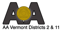 AA Vermont District 2 & 11 Logo